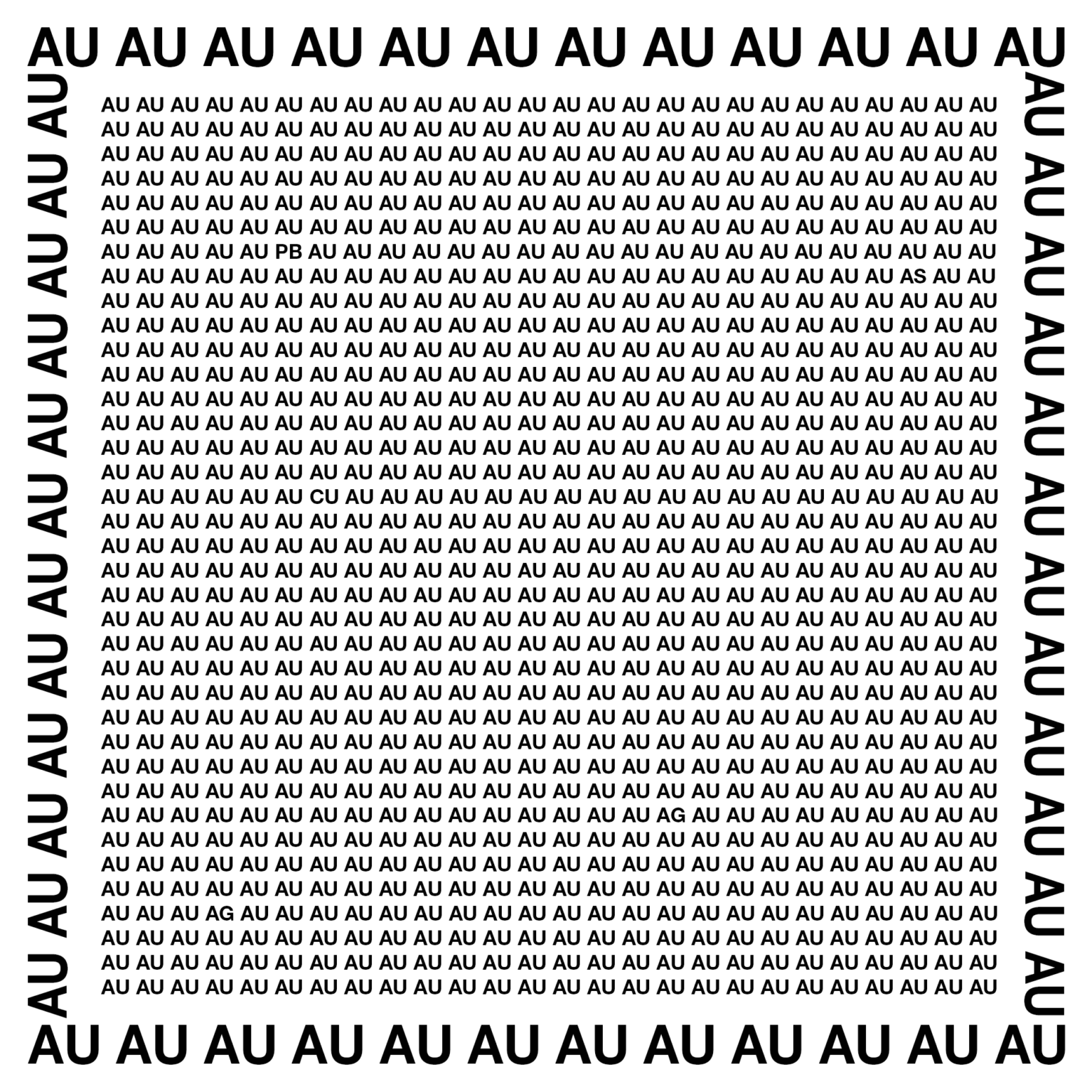 David le Viseur, AUAUAU (Golden Image in Golden Frame), 2019