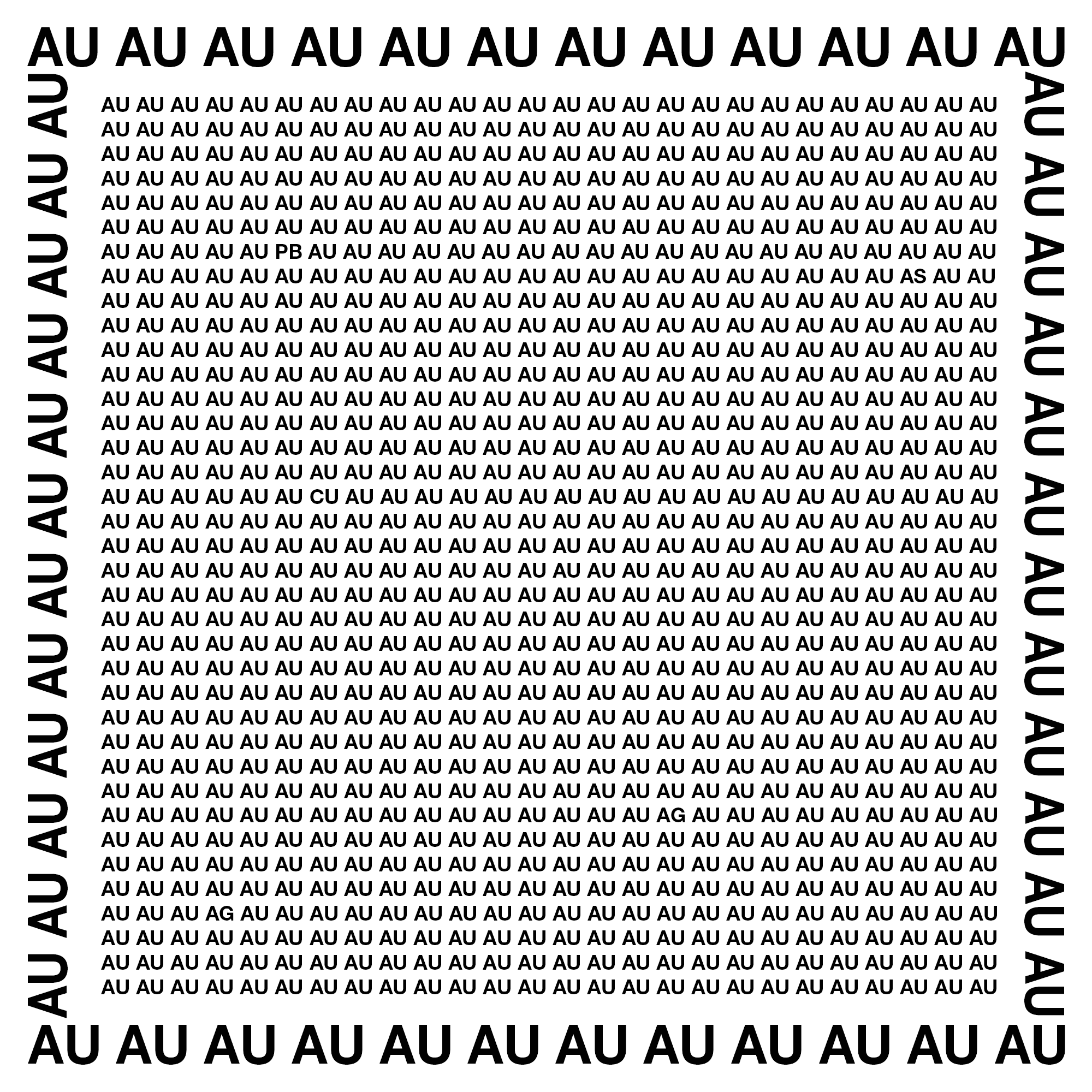 David le Viseur_AUAUAU (Golden Image in Golden Frame), 2019