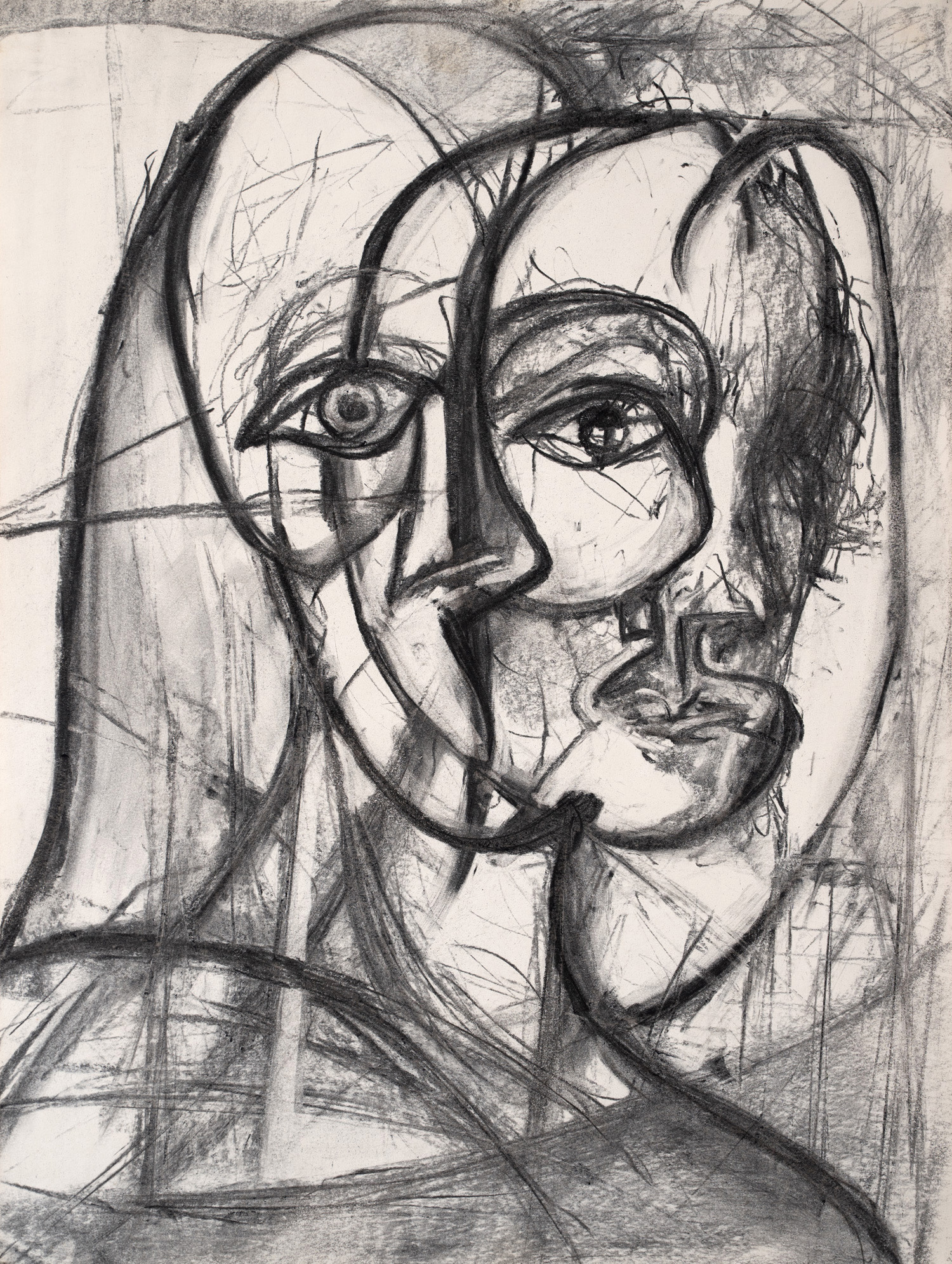 Drawing No.1, Charcoal on paper, 42x56cm, 1996