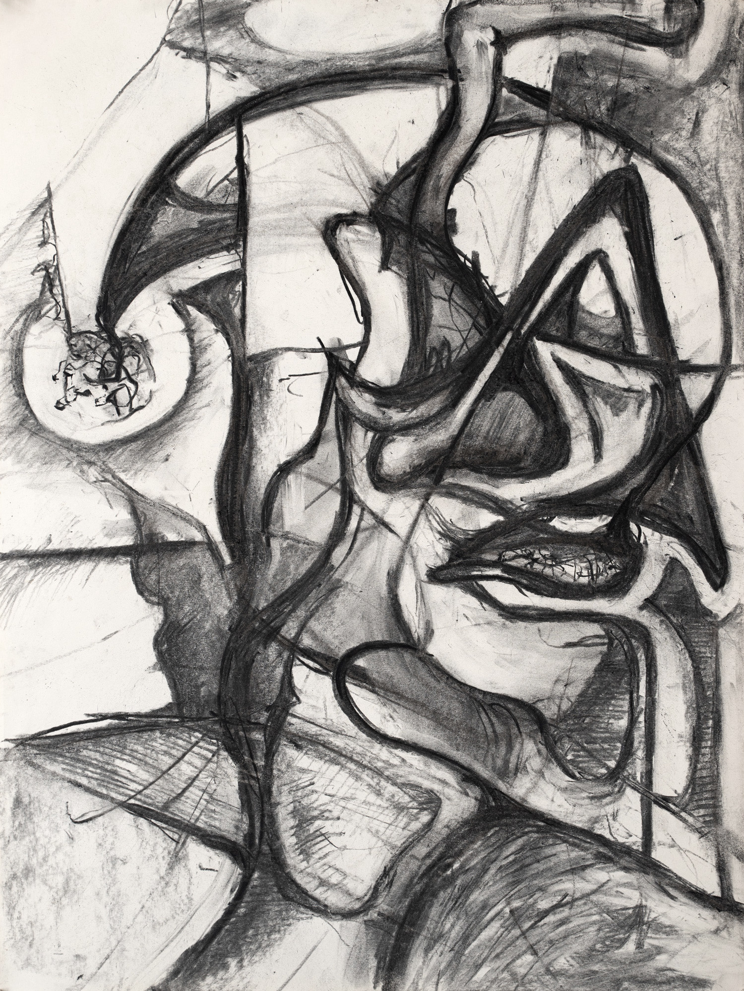 Berkeley Drawing No.2, Charcoal on paper, 42x56cm, 1996