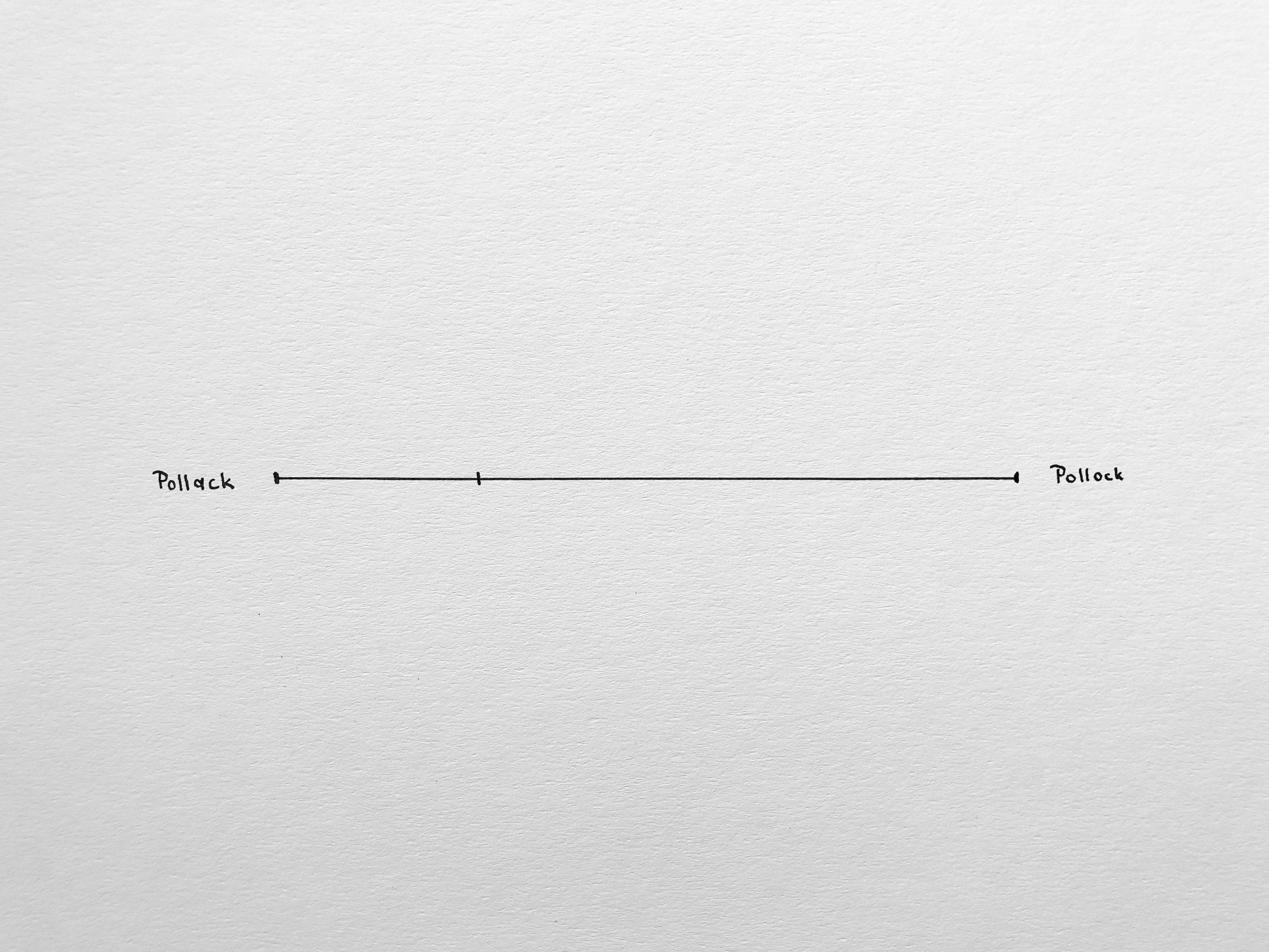 Odd Parameters: Pollack-Pollock, Pen on Paper, 32x24cm, 2018