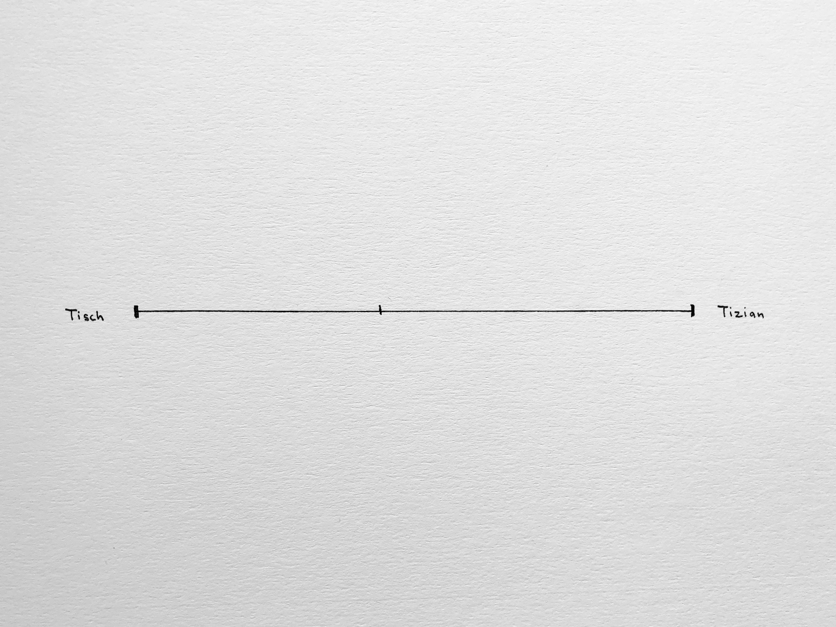Odd Parameters: Tisch-Tizian, Pen on Paper, 32x24cm, 2018