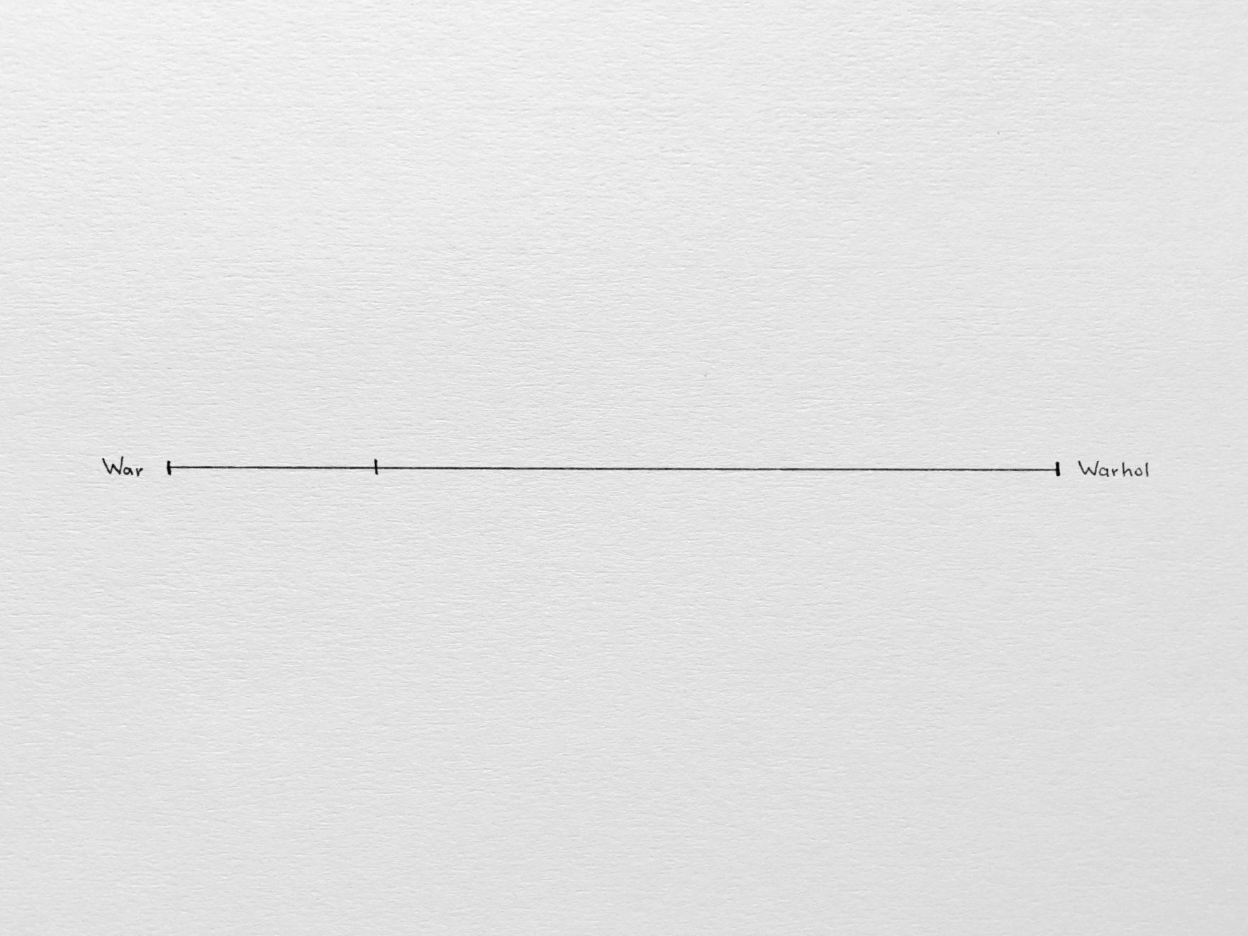 Odd Parameters: War-Warhol, Pen on Paper, 32x24cm, 2018