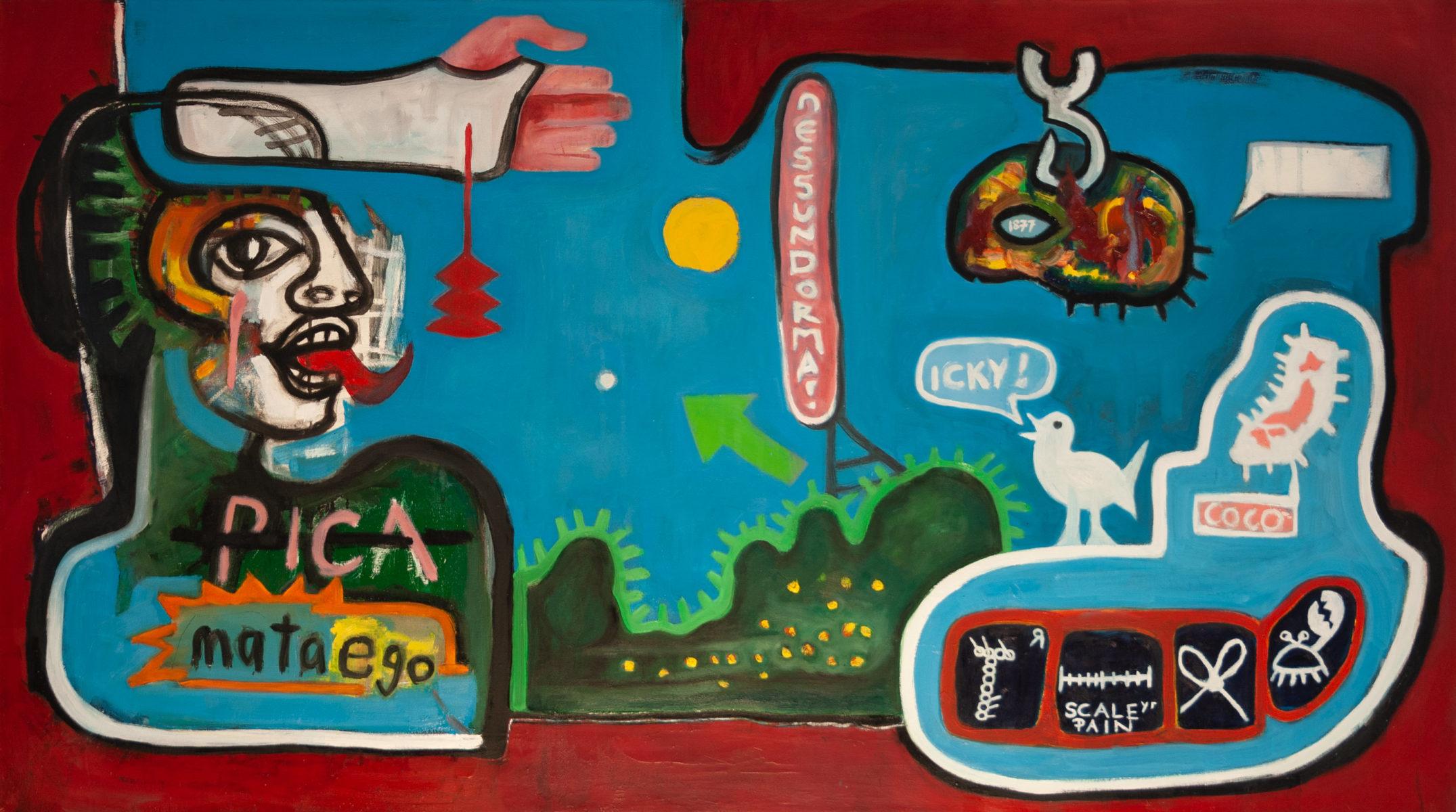 David le Viseur, PaintedBlog No.1, Oil on Canvas, 160x90cm, 2007