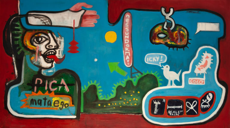 David le Viseur, PaintedBlog No.1, Oil on Canvas, 160x90cm, 2007