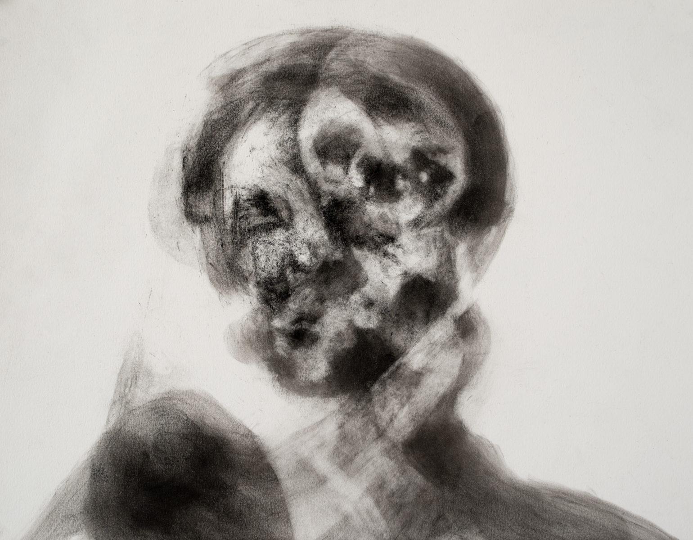 """""""Portrait for Andrea"""", Pigment on Paper, 24x32cm, 2018"""